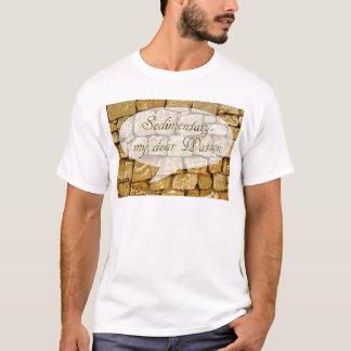 Kalksteinwand und schlechter Geologiewitz T-Shirt