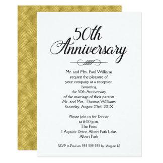 Kalligraphie 50. Hochzeitstag-Einladung 11,4 X 15,9 Cm Einladungskarte