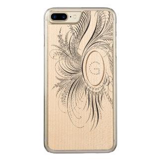 Kalligraphie blühen carved iPhone 8 plus/7 plus hülle
