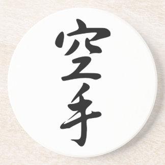 Kalligraphie des japanischen Wort-Karate Bierdeckel