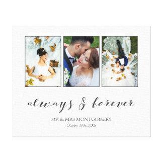Kalligraphie immer u. für immer Wedding Leinwanddruck