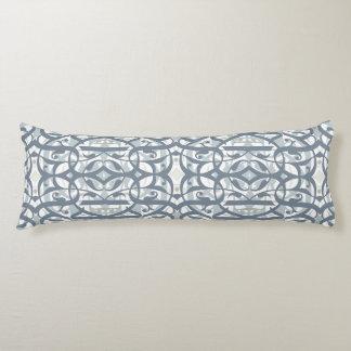 Kalligraphie-Kissen-graues Blau Seitenschläferkissen