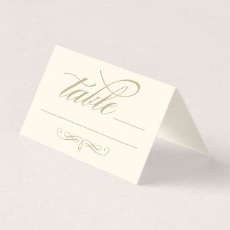 Kalligraphie-Skript-Gold der Eskorte-Platzkarte-| Platzkarte