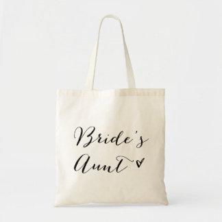 Kalligraphie-Taschen-Tasche der Braut der Tanten-| Budget Stoffbeutel