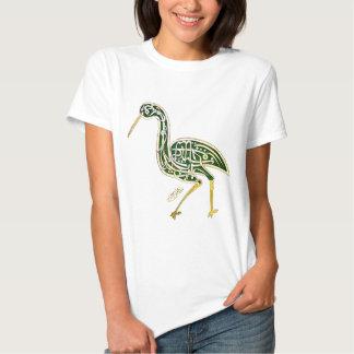 Kalligraphie-Vogel (Storch) T Shirt