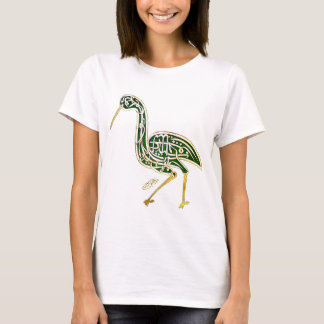 Kalligraphie-Vogel (Storch) T-Shirt