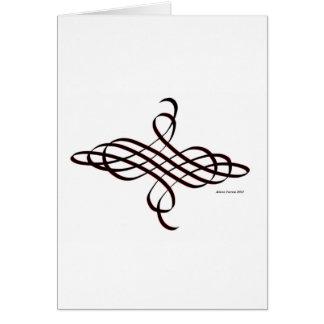 kalligraphisch blühen Sie Karte