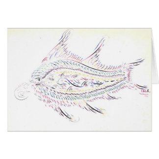 Kalligraphische Fische 1845 Karte