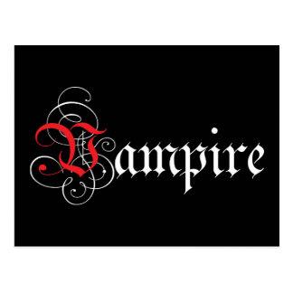 Kalligraphischer Vampir Postkarte