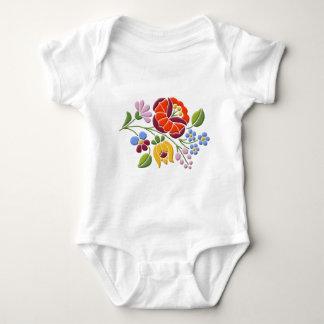 Kalocsa Stickerei - ungarische Volkskunst Baby Strampler