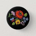 Kalocsa Stickerei - ungarisches Runder Button 3,2 Cm