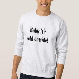 Kalte äußere Strickjacke! Sweatshirt