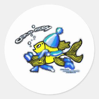 Kalte Fische Runder Sticker