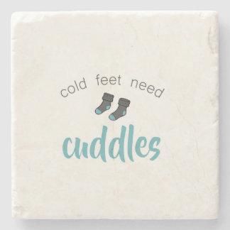 Kalte Füße benötigen Umarmungen Steinuntersetzer