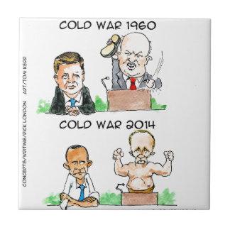 Kalte Kriege von 1960 und von 2014 lustig Fliese