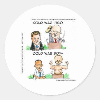 Kalte Kriege von 1960 und von 2014 lustig Runder Aufkleber