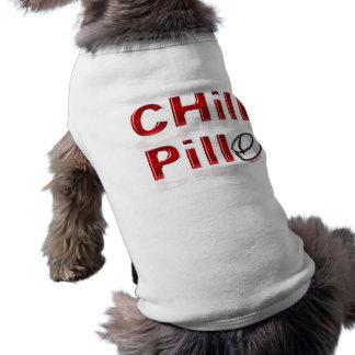 Kalte Pille lustiges PMS Ärmelfreies Hunde-Shirt