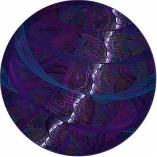Kalter Eichen-Mond Fotoskulptur Schlüsselanhänger