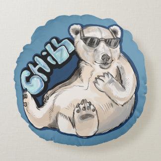 Kalter Eisbär Rundes Kissen