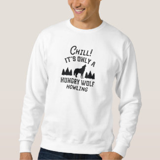 Kalter hungriger Wolf Sweatshirt