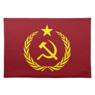 Kalter Kriegs-kommunistische Flaggen-Tischsets Tischset