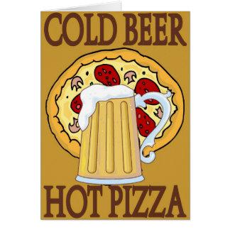 Kaltes Bier, heiße Pizza Karte