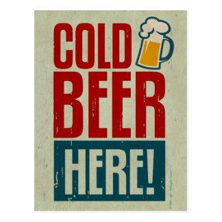 Kaltes Bier Postkarte