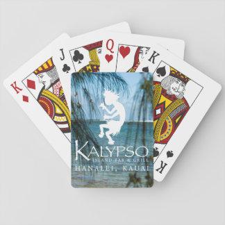 Kalypso Kane Logo im Weiß Spielkarten