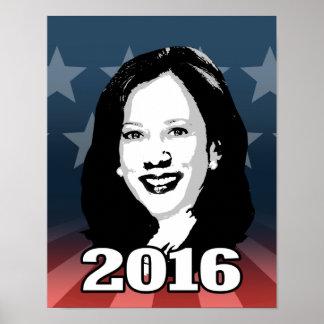 KAMALA HARRIS Kandidat 2016 Poster