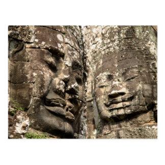 Kambodscha, Angkor Wat. Angkor Thom, Bayon Postkarte