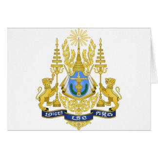 Kambodscha-Emblem Karte