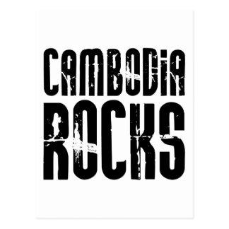 Kambodscha-Felsen Postkarte
