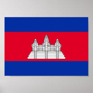 Kambodscha-Flagge Poster