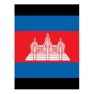 Kambodscha-Flagge Postkarte