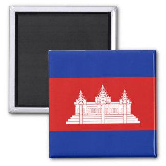Kambodscha-Flaggen-Magnet Quadratischer Magnet