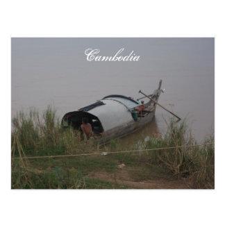 Kambodscha-Postkarte Postkarte