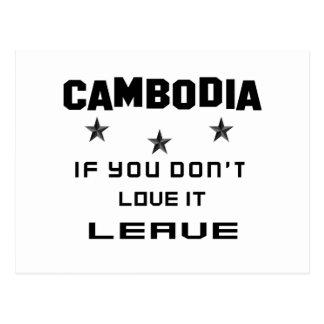 Kambodscha, wenn Sie nicht Liebe es tun, verlassen Postkarte
