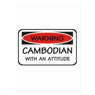 Kambodschaner mit einer Haltung Postkarte
