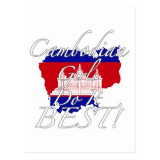 Kambodschanische Mädchen tun es Bestes! Postkarte