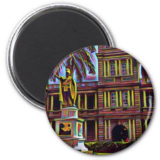 Kamehameha Oahu moderne Farbe Runder Magnet 5,7 Cm