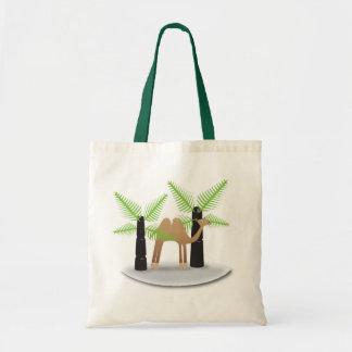 Kamel: glückliches Einkaufen Tragetasche