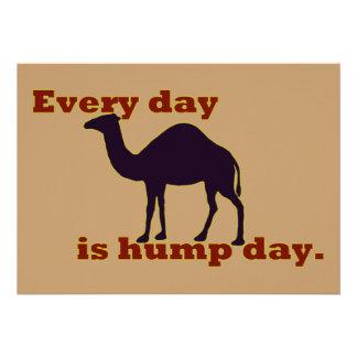 Kamel jeden Tag ist Buckel-Tag Individuelle Ankündigungen