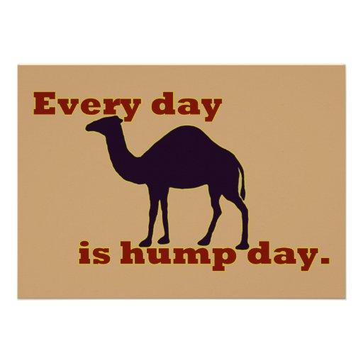 """Kamel """"jeden Tag ist Buckel-Tag """" Individuelle Ankündigungen"""