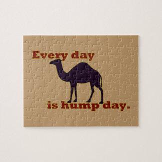 """Kamel """"jeden Tag ist Buckel-Tag """" Puzzle"""