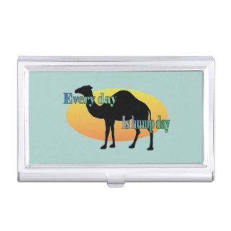 Kamel - jeder Tag ist Buckel-Tag Visitenkarten Etui