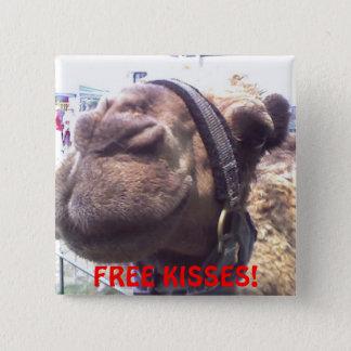 Kamel-Küsse Quadratischer Button 5,1 Cm
