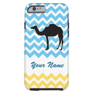 Kamel-Silhouette auf blauem und gelbem Zickzack Tough iPhone 6 Hülle