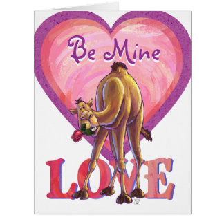 Kamel-Valentinstag Karte