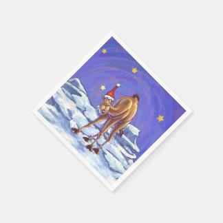 Kamel-Weihnachten Papierserviette