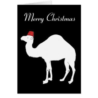 Kamel-Weihnachtskarte Karte